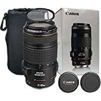 Canon EF 70-300mm f/4-5.6 IS USM Lens with UV Filter, Lens Case for Canon EOS 7D, 80D, 60D, 77D, EOS Rebel T7i, SL1, T1i, T2i, T3, T3i, T4i, T5i, XS, XSi, XT, Xti - International Version