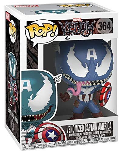 Marvel Venom Venomized Captain America Bobblehead Pop! Vinyl Figura