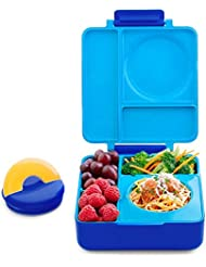 OmieBox Bento Box With Insulated Thermos For Kids, Blue Sky