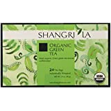 Shangri La Tea Company Organic Tea Bags, Premium Green, 20 Count (Pack of 6)