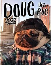 Doug The Pug calendar 2022: 2021-2022 calendar animals- animal wildlife calendar July 2021 to December 2022 with high quality cute animal photos for animal lover gifts for kids
