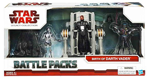 Star Wars The Legacy Collection Battle Pack Birth of Darth Vader (Darth Vader w  Operating Table, Galactic Chopper and 21B)