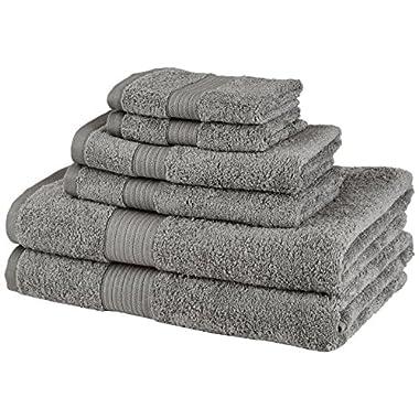 Pinzon 6-Piece Two-Tone Towel Set - Grey
