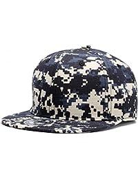 Unisex Blank Adjustable Snapback Hats Camo Flat Brim Cap