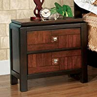 Eclectic Acacia Nightstand