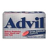 Advil Extra Strength Caplets (32 Count), 400 mg ibuprofen, Temporary Pain Reliever / Fever Reducer