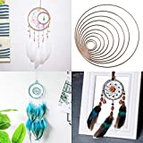 Yziss Dream Catcher Metal Rings, Macrame Ring for