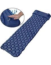 EZILIF Isomatte Selbstaufblasend Kompressionsdesign Camping Schlafmatte Outdoor Aufblasbar Isomatten Ultraleicht Luftmatratzen für Camping, Reise, Wandern, Schwimmbad