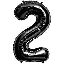 "Foil Balloon 34""Number 2 - Black"