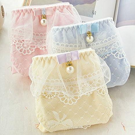 SEVE Lindo algodón/Lace Pearl Princesa niñas Briefs Bragas ropa para mujer M L XL,Rosa,L: Amazon.es: Deportes y aire libre