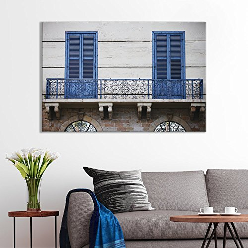 of Blue French Doors On Terrace Italy