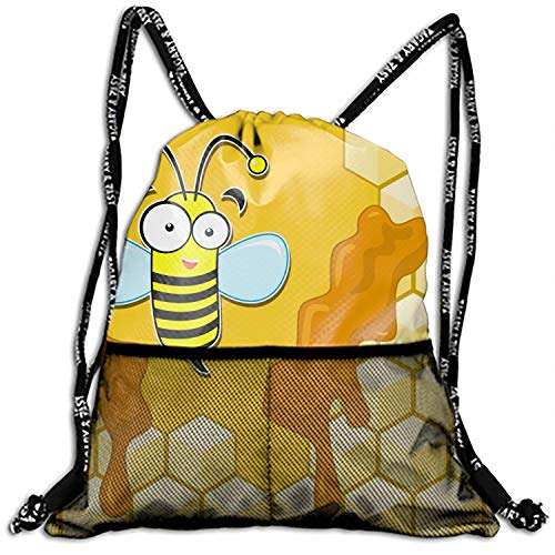 Unisex Bumblebee Home Fashion Beam Mouth Backpack&drawstring Double Shoulder Bag Drawstring Travel Backpack For Men And - Bee Zelda Bumble