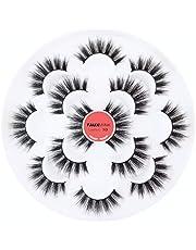 5D Faux Mink Lashes - Handmade Luxurious Thick Volume Fluffy Natural Dramatic False Eyelashes 7 Pairs