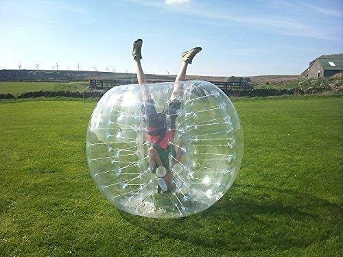 YaeKoo PVC Transparent 5 feet 1.5M Diameter Inflatable Bumper Ball Human Knocker Ball Bubble Soccer Football Outdoor Zorb Ball (1 PACK) by YaeKoo (Image #2)