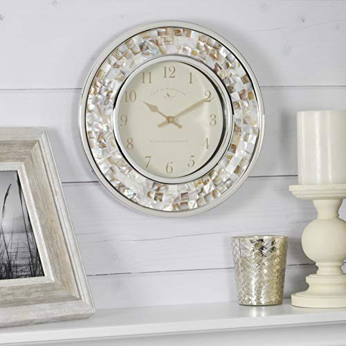 FirsTime & Co. 00145 Pearl Mosaic Wall Clock, 10.25