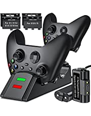 Charger for Xbox one/Xbox one Series X&S Controller, Controller Charging Station Compatible with Xbox One X/S/Elite,Dual Charging Dock with 2 x 1200mAh Rechargeable Battery Packs