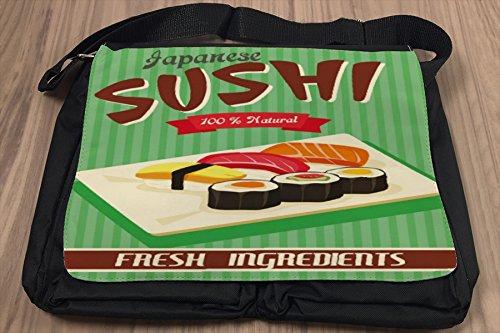 Borsa Tracolla Nostalgico Divertimento Giappone di sushi Stampato