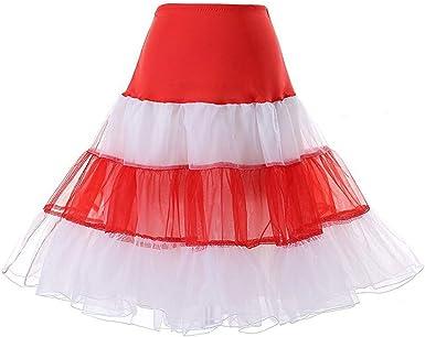 Xmiral - Falda de tutú para mujer, cintura alta, tutú Blanco XL ...