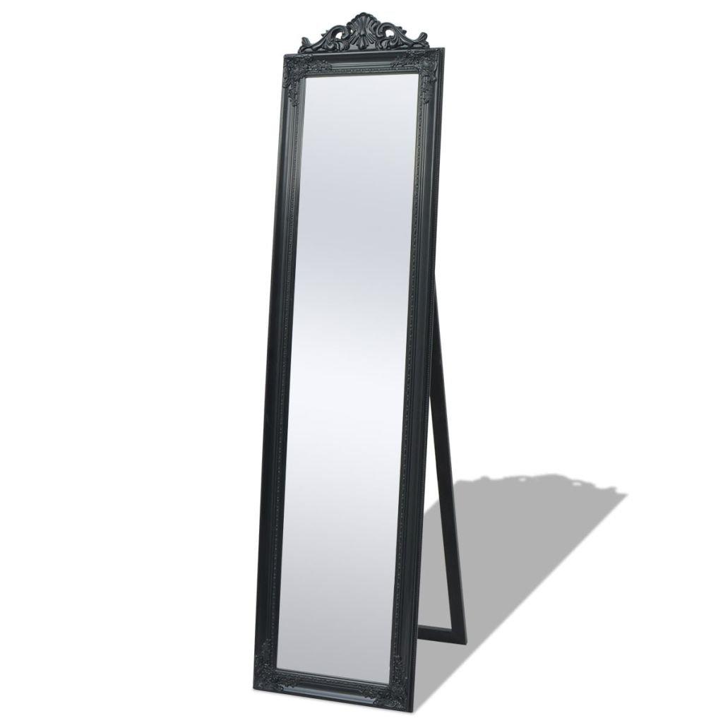 vidaXL Specchio Lungo Specchiera da Pavimento Stile Barocco 160x40cm Bianco SAFERS-HÜLLE-2552