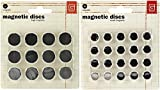 Basic Grey Magnetic Snaps Bundle with Large and Small Discs (Set of 2 Items)