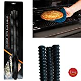 Acmys - Silicone Oven Rack Guards Prevent Nasty Burns and Scars when Baking and Broiling 14 inch, Black color, Set of 3