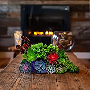 Creative Side Artificial Succulent Plants - 11 Soft Realistic Lifelike - Colorful Faux Succulents Arrangement, Mini Fake Succulent Plants, Large Succulents Unpotted Plant For Planters And Indoor Decor 2