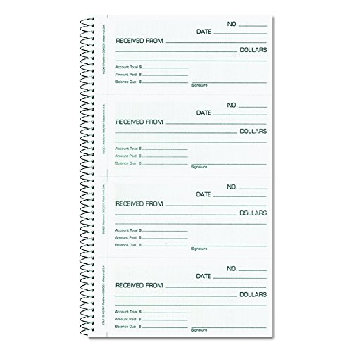 Carbonless Unnumbered Money Receipt Book (Rediform Money / Rent Receipt Book, Carbonless 2-Part, 5.5 x 2.75 inches, 200 Sets per Book (23L115))