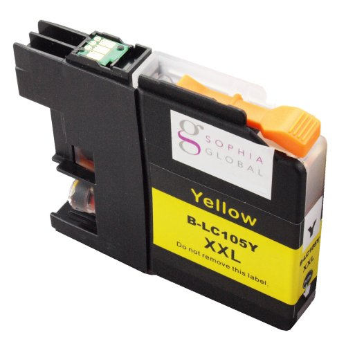 Sophia Global Compatible Ink Cartridge Replacement for LC105 XXL (1 Yellow)