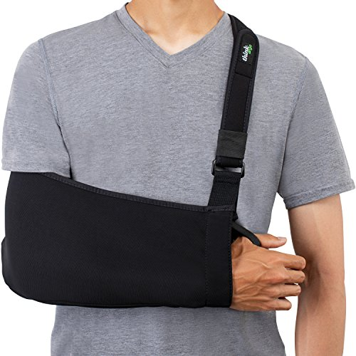 Think Ergo Arm Sling Sport - Lightweight, Breathable, Ergonomically Designed Medical Sling for Broken & Fractured Bones - Adjustable Arm, Shoulder & Rotator Cuff Support (Adult) (Arm Sling Padded)