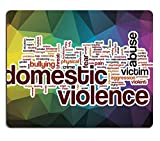 Luxlady Gaming Mousepad IMAGE ID: 37876647 Domestic violence word cloud concept with abstract background