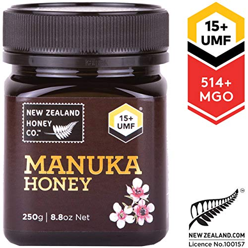 (New Zealand Honey Co. Raw Manuka Honey UMF 15+ | MGO 514+, 8.8oz / 250g)