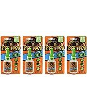 Gorilla Super Glue Gel, 15 Gram, Clear, (4 Pack)