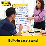 Post-it Super Sticky Portable Tabletop Easel Pad w/ Dry Erase Panel, 20x23 Inches, 20 Sheets/Pad, 1 Pad, One Side White Premium Self Stick Flip Chart Paper, One Side Dry Erase, Built-in Stand