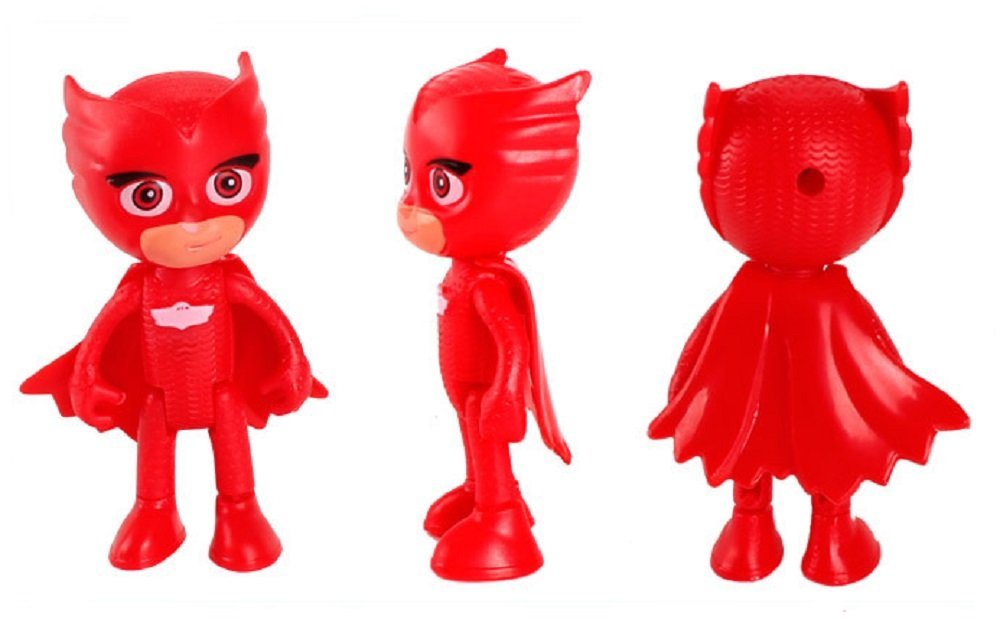 PJ Masks - Pack de 6 figuras y 3 armas: Gatuno, Buhíta, Gekko, Lunática, Romeo y Ninja Nocturno (con caja original) - envíos 2-3 días para españa!