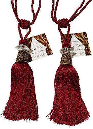 Textiles Plus Alexander Tassel Curtain Tieback, Burgundy