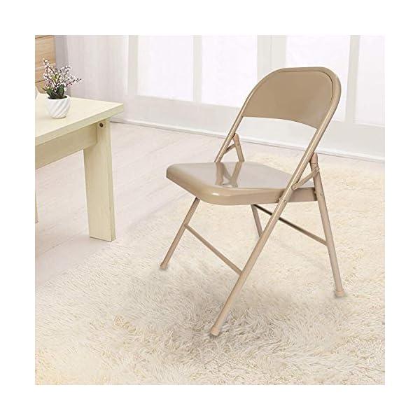 VECELO Lot de 4 Chaise de Cuisine Pliante, Chaise Pliable de Salle à Manger Chaise Invité pour Bureau Chaise de Jardin en Métal