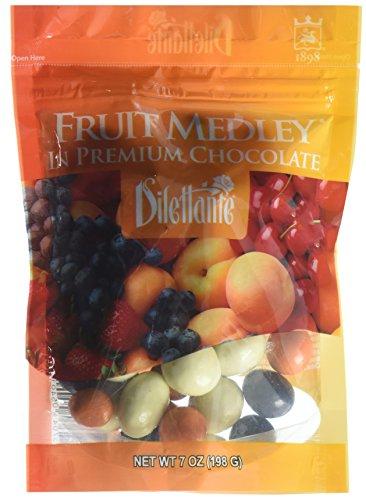 Dilettante Chocolate Covered Fruit Medley Dragées - 7oz Pouch -