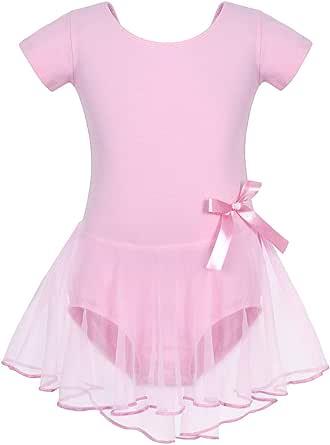 AmzBarley Girls Unicorn Ballet Dress Tutu Tulle Leotard Gymnastics Dancewear 3-9 Years