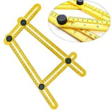 Angle-izer Template Tool, Multi Angle Ruler Template Tool with 4 Sides to Measure / Repeat / Mark for Woodworking Handyman Craftsmen with Inches & Metric Measures (ABS Material)