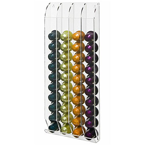 OnDisplay Wall Mounted Acrylic Nespresso Coffee Capsule/Pod Holder by OnDisplay