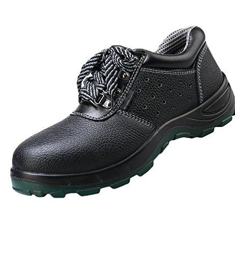NiSeng Mens Ankle Boots Winter Safety Trainer Boots Work and Safety Shoes Lace Up Hiker Lightweight Shoes Black 3kRl17FF7