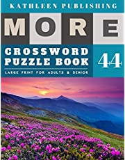 Crossword Puzzles Large Print: Crossword Quick | More 50 Easy Puzzles Large Print Crosswords to Keep you Entertained for Hours | Nature Design