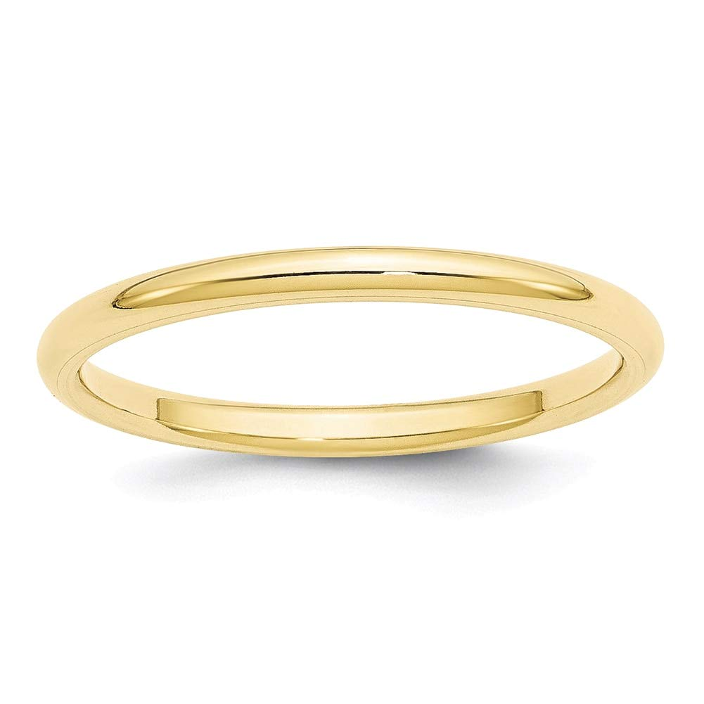 Lex /& Lu 10k Yellow Gold 2mm Standard Comfort Fit Band Ring