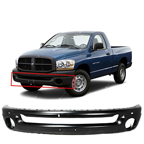 MBI AUTO - Primered Steel, Front Bumper Shell Face Bar for 2002-2008 Dodge RAM 1500 & 2003-2009 Dodge RAM 2500/3500 Pickup, CH1002377 (End Chrome Package Front)