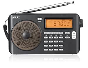 AKAI APW15 - Radio (AM, FM, 3.5 mm), negro