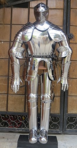 NAUTICALMART Crusader Full Suit of Armour Medieval Armour Wearable Costume ()