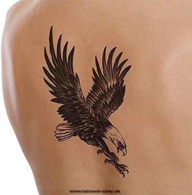 Imagen Águila – Negro XL una vez piel Tattoo – hb105, Negro, 1 x ...
