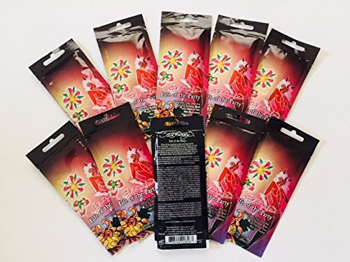- Indoor Tanning Lotion Packets, Life of the Party-Ed Hardy, 10 Packets/Unit Firming and anti-aging blend with diamond dust illuminators