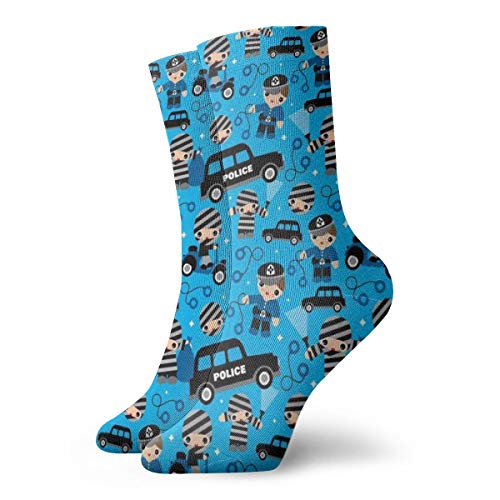 Cool Colorful Casual Socks - Novelty Funny Casual Dress Socks Thiefs Cobs and Robbers Police