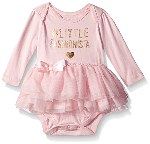 The Children's Place Baby Girls' Tutu Graphic Body Suit, Serene Blush 90528, 0-3MONTHS